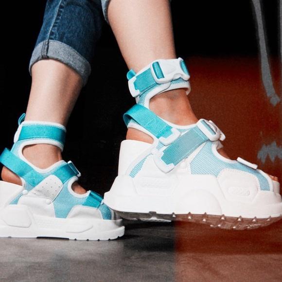 Anthony Wang blue platform sandal